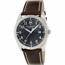 NWT Victorinox Swiss Army Infantry Black  Brown Leather Strap Men's Watch 241563
