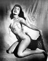 "Bettie Page Photo Retro Pin Up 048 Printed in Photo Lab 8""x10"" in"