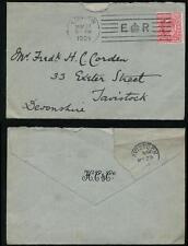 GB KE7 PERFIN H CORDEN + Co + ENV 1904 E CROWN R BICKERDIKE MACHINE to DEVON