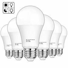 6 Pack Dusk to Dawn Sensor Light Bulb A19 15W 100-125 Watt Equivalent LED