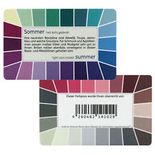 """Farbpass Sommer """"Loop"""" - Plastikkarte mit 44 Farben"""