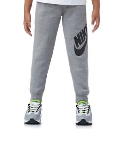 Nike Sweatpants Little Boys 4 XS Authentic Futura Cotton Cuff Bottom Pants Gray