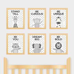 Nursery Prints, Safari Animal Jungle, New Baby, Toddler Kids Room, Scandi spots