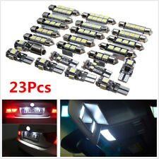 Car White LED Inside Light Kit Dome Trunk Mirror License Plate Light Bulbs 23Pcs