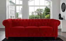 Chesterfield Design Luxus Polster Sofa Couch Sitz Garnitur Leder Textil Neu #179