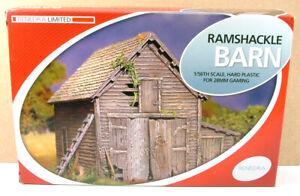 Renedra ramshackle barn - wargames scenery 28mm
