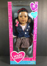 "2013 MADAME ALEXANDER WHAT A DOLL PLAID SKIRT BLACK AA 18"" POSABLE CUTE!!"