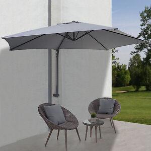 Parasol mural Casoria, parasol déporté pour le balcon, 3m, inclinable ~ gris