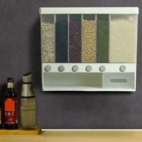 New Wall-mounted Dry Food Dispenser Cereal Dispenser Storage Fast AU W9O1