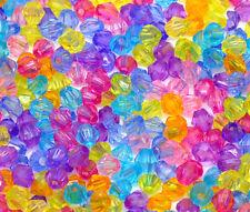 2000 Mixte Perles Multicolore Intercalaires Bicône Acrylique 4x4mm