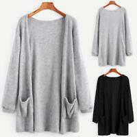 Women Long Sleeve Cardigan Outwear Coat Oversized Loose Knitted Sweater Jumper