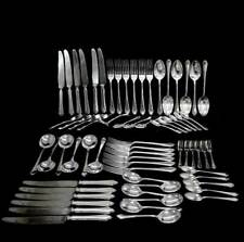 Vintage Mappin & Webb EPNS silver plated 67 piece cutlery set spoons forks knive