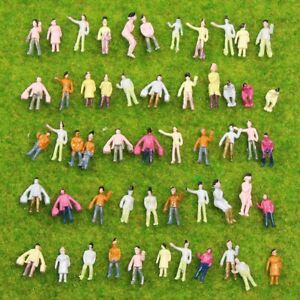 200pcs Model Trains 1:220 Scale Painted Figures Z Gauge People Railway Layout