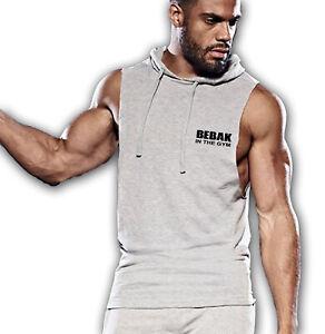 Mens Gym Vest Hoodie |  BEBAK Bodybuilding Clothing MMA T Shirt Tank Top Vest