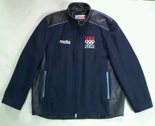 VINTAGE MADE IN CANADA ROOTS 2002 USA OLIMPIC TEAM AUTHENTIC JACKET  SIZE L