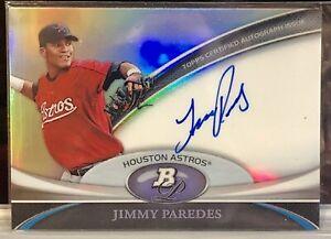 2011 Jimmy Paredes Bowman Platinum Auto #BPA-JP Astros
