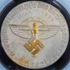 Medal 1938 PCGS SP62 Germany Third Reich Kassel Flight Corps CUNC Kaiser 1239