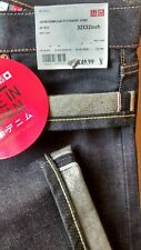 Uniqlo MADE IN JAPAN Jeans KAIHARA Selvedge W32 L32 Blue Raw Denim DEADSTOCK LVC