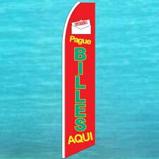 Pague Billes Aqui Flutter Flag Tall Advertising Sign Feather Swooper Banner