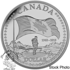 Canada 2015 $1 The 50th Ann. of the Canadian Flag Proof Silver Dollar Coin