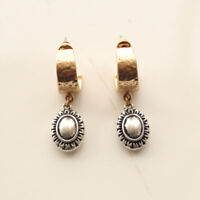New Chicos Oval Drop Dangle Earrings Gift Vintage Women Party Holiday Jewelry FS