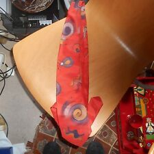 valerie mc gurdy, hand painted silk tie