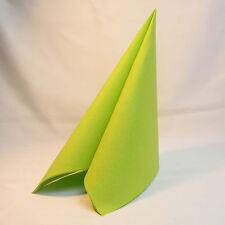 50 Airlaid Servietten Apfelgrün Grün Lime Kiwi Stoffoptik Stoffähnlich 40x40 uni