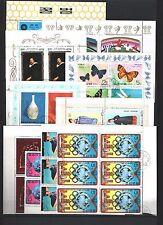 Korea, Sammlung von 6 Kleinbogen, 2 Viererblocks+ 2 Sechserblocks beste Qualität