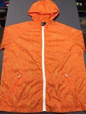 Men's VTG DC SHOES All Over Print Hooded Jacket Size MEDIUM M Orange Vintage EUC