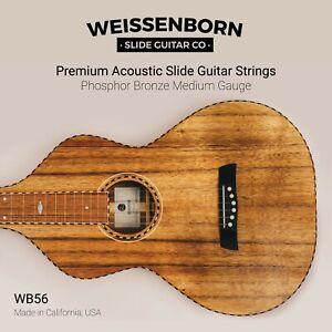 Premium Weissenborn Guitar Strings - Acoustic Slide Open D & Open G
