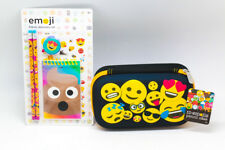 NEW ID Emoji 5 Piece Stationery Set with Awesome Pencil and Pen Case