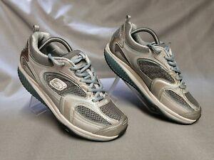 Skechers Shape-ups Women's Silver/Blue Trainers Size UK 7 Eur 40