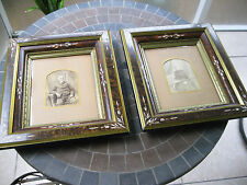"2 ANTIQUE VICTORIAN EASTLAKE SHADOW BOX ORNATE PICTURE FRAMES 13 1/2"" X 15 1/2"""