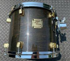 "Yamaha Maple Custom 12"" Tom - 90s Transparent Black / Gold Lugs - #2"
