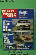 AMS Auto Motor Sport 22/82 * BMW 628 CSI Ferrari 400 VW Polo GT AM Vantage
