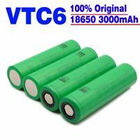 4X 3000mAh 3.7V 18650 Li-ion Akku für Sony VTC6 High Drain Rechargeable Battery
