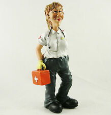 Female Paramedic Figure Figurine Birthday Gift Medic Ornament Statue Cake Topper