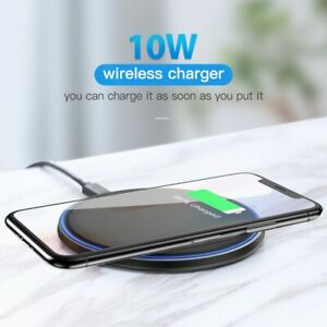 New Automatic Quick Wireless Charger 10W Samsung Apple Mirror Fast Mi Indicator