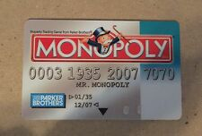 Monopoly Electronic Banking Replacement Debit Credit Payment System Aqua Card