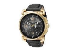 Diesel Men's Black Leather Strap Hybrid Smart Watch  DZT1004