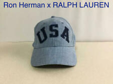 Ron Herman Polo Ralph Lauren Collaboration Cap Hat M Chambray Navy 100% Cotton