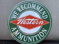 Wester Ammunition Ammo Shooting vintage style Porcelain Enamel Sign