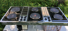Jenn Air Downdraft 3 bay cooktop Black & Stainless electric Really Nice