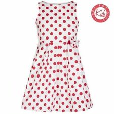 LINDY BOP 'Mini Grace' Children's Red & White Polka Dot Print Bow Dress 5-6 Yrs