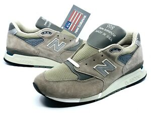 New Balance Men's M998 Made in USA Bringback Retro Classic Grey Silver Size 12