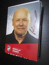 40640 miroslav koubek FC Victoria plzen Original con firma de autógrafos mapa
