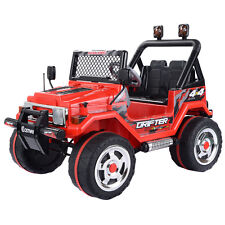 12V MP3 Kids Raptor Jeep Wrangler Truck RC Ride On Car Electric Christmas Gift