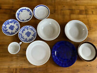 Antique Jackson China Misc 10 Pcs Set, Bowls, Saucers Tea Cup