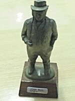 John Bull Ornamental Metal Figure on Wooden Stand  Crown Miniatures  8.5cm