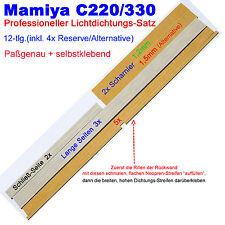 MAMIYA C330 12tlg Set LichtDICHTUNGen MassZUSCHNITT mit Reserve Lichtdichtung